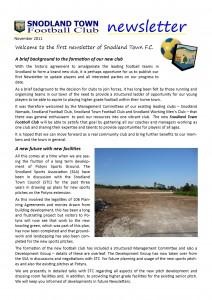 Newsletter 1 Nov 2011