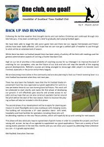 Newsletter 9 March 2014